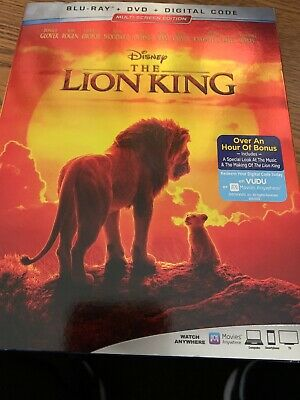 The Lion King, 2019 - Live Action (Blu-Ray + DVD + Digital Code) F6