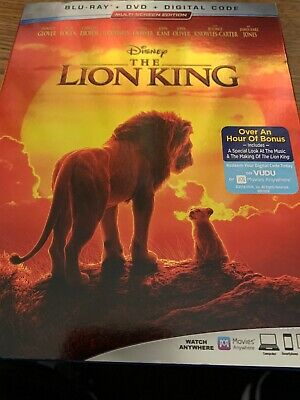 The Lion King, 2019 - Live Action (Blu-Ray + DVD + Digital Code) H8