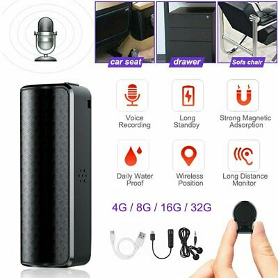 MP3 Spy Magnetic Recording Device Voice Activated Mini Audio Recorder 4~32GB AU