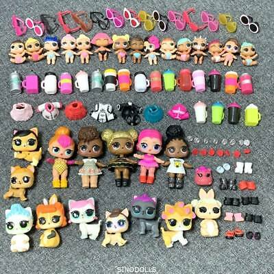 Wholesale Lot 100Pcs LOL Surprise Doll Queen bee Lil Sisters Pet & clothes Real