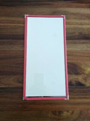 2/3 A4 cafe bistro menu cover--single panel--red