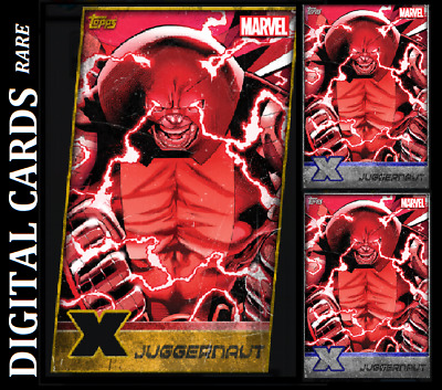 Topps Marvel Collect Card Trader X-Men Weekly Juggernaut Gold Die Cut + 2 Silver