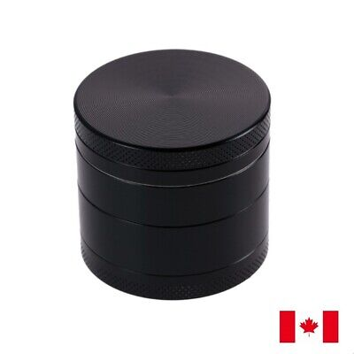 Black Zinc Alloy 4 Layer 40mm Spice Herb Grinder w/ Scraper