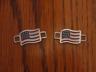 2 - American Flag Shoelace Charms Red Wing Shoe Co. USA