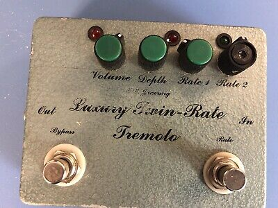 T Jauernig Luxury Twin-Rate Tremolo Handmade Guitar Pedal