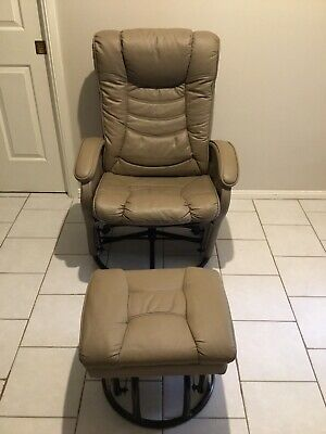 Valco Rocking Chair and ottoman Breastfeeding Nursery Glider In Great Condition
