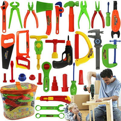 Kids Play Pretend Toy Tool Set Workbench Construction Workshop Tool box Tools US