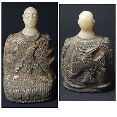 Very old bactrian compsite lapiz stone prince status with alabaster head
