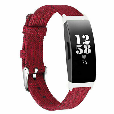 For Fitbit Inspire HR Band Nylon Canvas Woven Fabric Replacement Wristband Strap