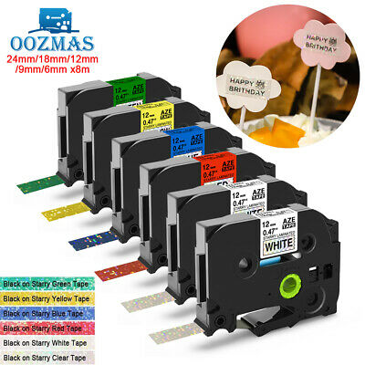Compatible Brother TZ TZe P-Touch Label Tape Printer 24mm/18mm/12mm/9mm/6mm 8m