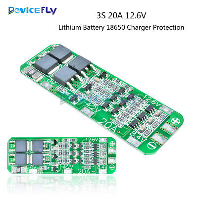 1/2/5/10PCS 3S 20A 12.6V Li-ion Lithium Battery 18650 Charger Protection Board