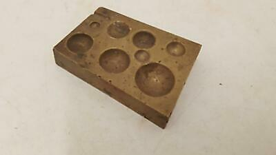 "Antique Brass Jeweller Doming Block 3 x 2"" 18289"