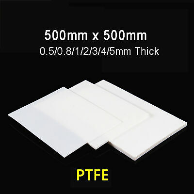 PTFE Sheet Plate Pad High Temperature Resistance Thick 0.3/0.5/0.8/1/2/3/4/5mm