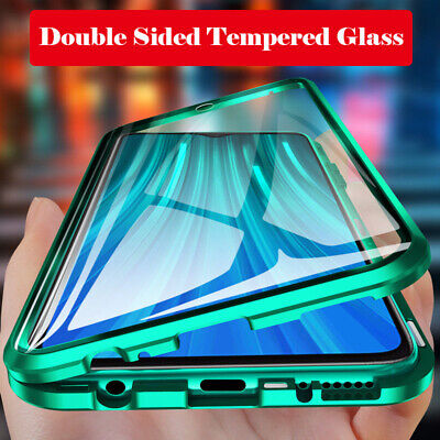 Antichocs Double Verre Coque Pr Xiaomi 9/9T/Redmi Note 8 Pro Magnet Metal Case