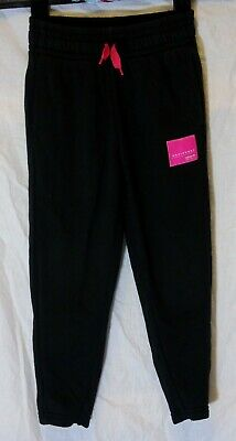Girls Adidas Black Neon Pink Tracksuit Bottoms Trousers Joggers Age 5-6 Years