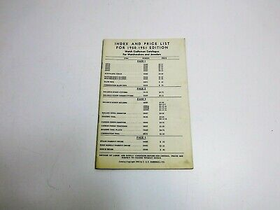 Vintage 1951 C & E Marshall Co Watchmakers Tools And Jewelers Price Sheet