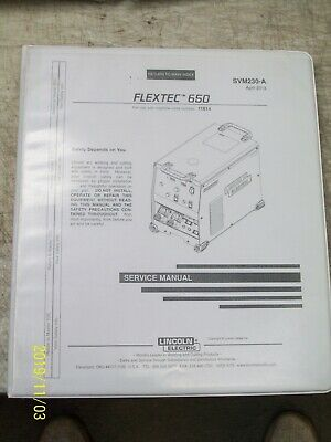 Lincoln Electric Flextec 650 Service Manual Welding  Svm230-A