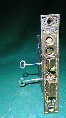 """Russell & Erwin Eastlake Entry Mortise Lock: Double Key 6 7/8"""" Face - (9648)"""