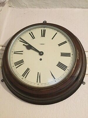 A Superb Antique Station Wall Clock By Coventry Astral