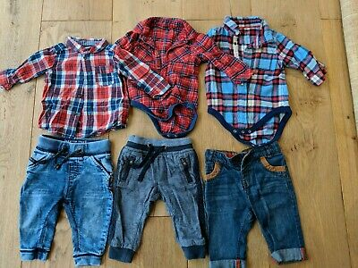 3-6 Month Boys Jeans/Trousers And Shirts. Next, M&S