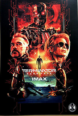 "New Rare 2019 Terminator Dark Fate Movie 13""x19"" Limited Edition IMAX Poster"
