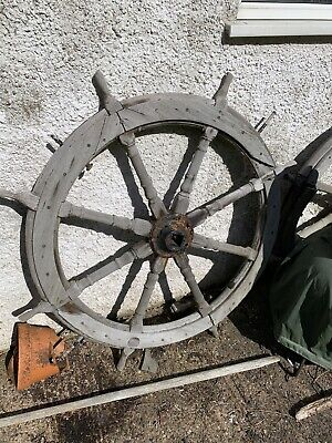 """Ships wheel 315 mm across Made from wood /& brass 12/"""" maritime Nautical Gift"""