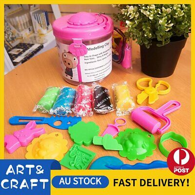 Air Dry Modeling Clay 14 Colour DIY Craft KIDS Gift Soft Clay Super Light -P