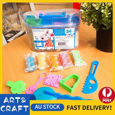 Air Dry Modeling Clay 24 Colour DIY Craft KIDS Gift Soft Clay Super Light -B