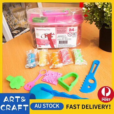 Air Dry Modeling Clay 24 Colour DIY Craft KIDS Gift Soft Clay Super Light -P