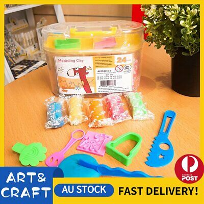 Air Dry Modeling Clay 24 Colour DIY KIDS Craft Gift Soft Clay Super Light -Y