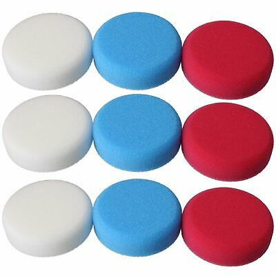 Coarse Medium + Fine 75mm Polishing Mops Sponges For Sanders Polishers 9pc