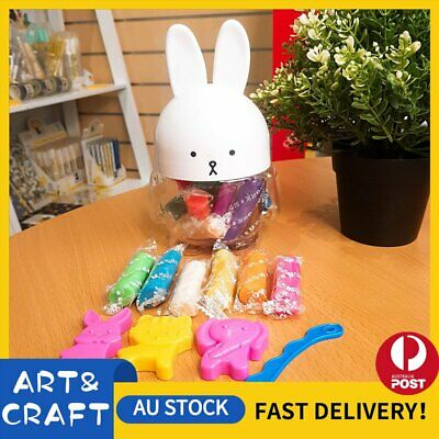 Rabbit Air Dry Clay Modeling Clay 16 Colour Pack DIY Craft Gift Soft Light Clay