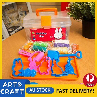 Air Dry Clay Modeling Clay 24 Colour Pack DIY Craft Gift Soft Light Clay Tools