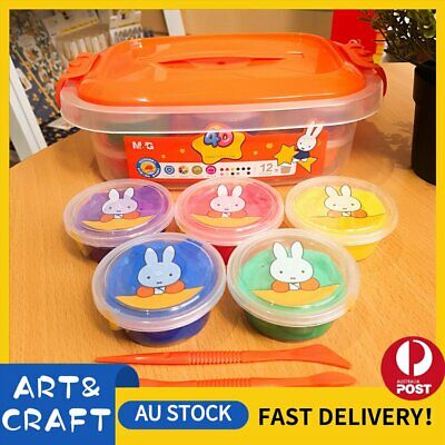 4D Portable Air Dry Clay Modeling Clay 12 Colour Pack DIY Craft Gift Soft Light