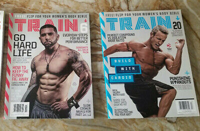 TRAIN Magazine NEW copies 2017 2018 2019  Fitness / Workout VOL + Ship discounts