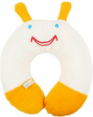 Children'S Neck Support Pillow, Soft And Plush, White/Yellow 0-12 Months UK