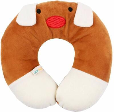 Children'S Neck Support Pillow, Soft And Plush, Brown 0-12 Months UK