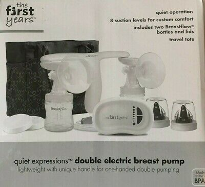 The First Years - Quiet Expressions - Double Electric Breast Pump & Travel Tote