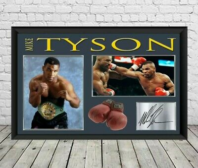 Mike Tyson Signed Photo Print Autographed Poster Boxing Memorabilia