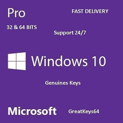 Windows 10 Pro 32/64 Bit Multilanguage Original License Key