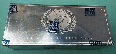Sealed Box 30 Years of Star Trek Phase 1 cards - 36 packs of 8 cards