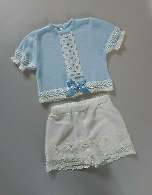 Spanish DORMILON Baby Girls Top & MAYORAL Floral Shorts Outfit__18-24 Months