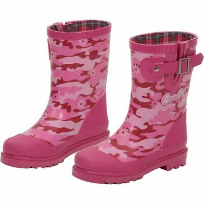 Case IH Girls' Pink Camo Camouflage Pink Rubber Snow Rain Weather Boot Kids