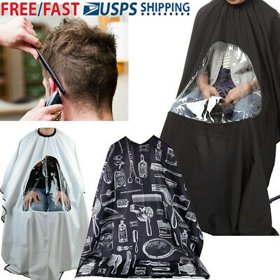 Hair Cutting Cape Apron Salon Hairdressing Phone Viewing window Barber Cloth
