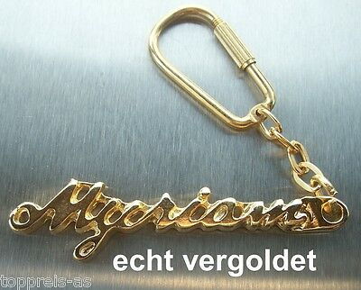 Classy Key Ring Myriam Real Gold-Plated Gold Name Keychain Keyring New