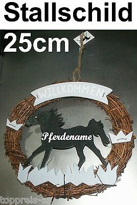 NEW Stable Name plate Horse Shape Black Metal for pony horse Gift