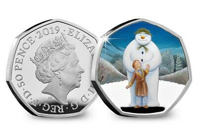 2019 Snowman and James 50p Coin Royal Mint Silver proof Brand IN STOCK