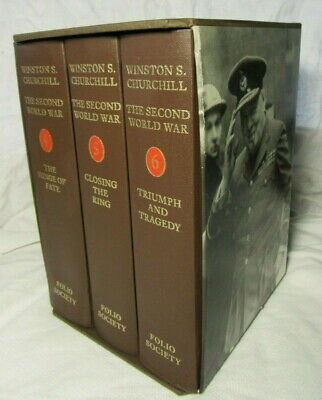 Thew SECOND WORLD WAR Winston Churchill - Folio Society Vols 4 5 & 6