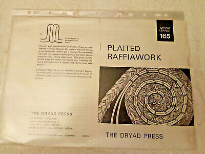VINTAGE 1960s DRYAD LEAFLET 165 PLAITED RAFFIAWORK 12pp BOUGHT AS A PHOTOCOPY