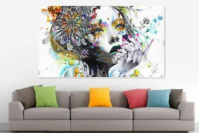Large Abstract Girl Colourful Unframed Canvas home wall Picture Art  Australia